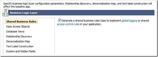 Enabling shared business rules.