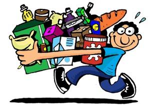 O candidato e as cestas-básicas