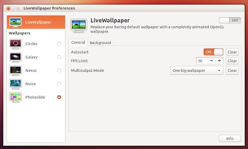 LiveWallpaper 0.4  - Preferenze