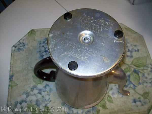 how to take a vintage coffee pot apart
