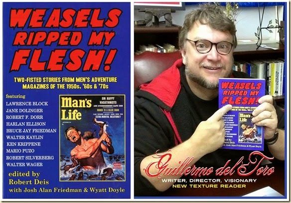 Guillermo Del Toro with WEASELS RIPPED MY FLESH book