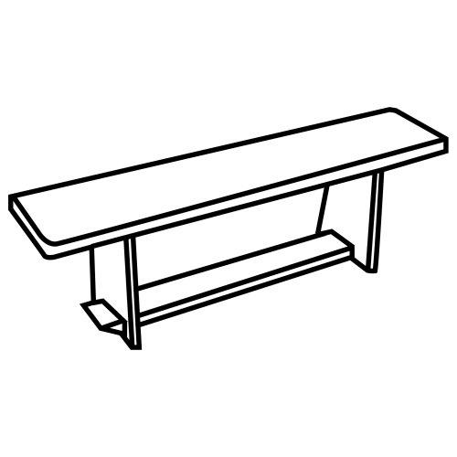 Banco de Sentarse Dibujo Dibujo de Banco Para Colorear