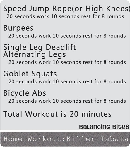 Home Workout Killer Tabata