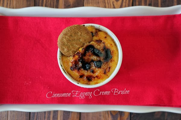 Easy Cinnamon Eggnog Creme Brulee Recipe