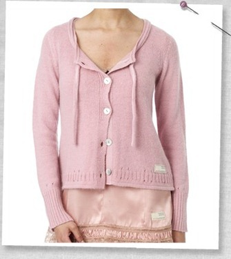 #526 everyday short cardigan rose