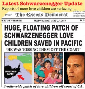Huge, floating patch of Schwarzenegger love children saved in Pacific