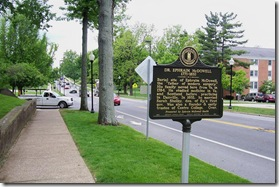Dr Ephraim McDowell looking west on Main Street Danville, KY
