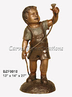 Boy Holding Garden Hose