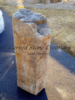 Large Bubbling Basalt Column Fountain, 30 in