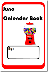 June Calendar Math Book - Free