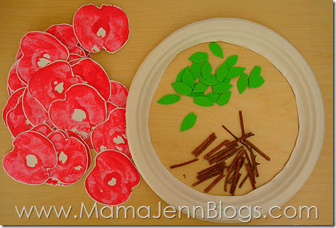 Apple Print Wreath Supplies
