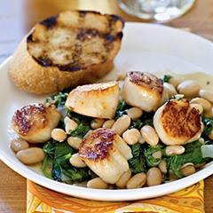 scallops-beans