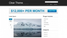 Clear theme blogger template 225x128