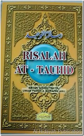 Gambar Muka Hadapan Kitab Risalah At-Tauhid Al-Hidayah Publication