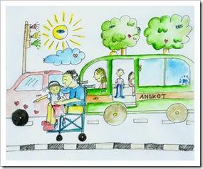 kursi roda di jalan