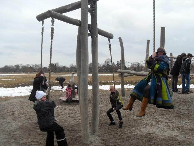 Den sjove ved legepladsen ved Damhussøen