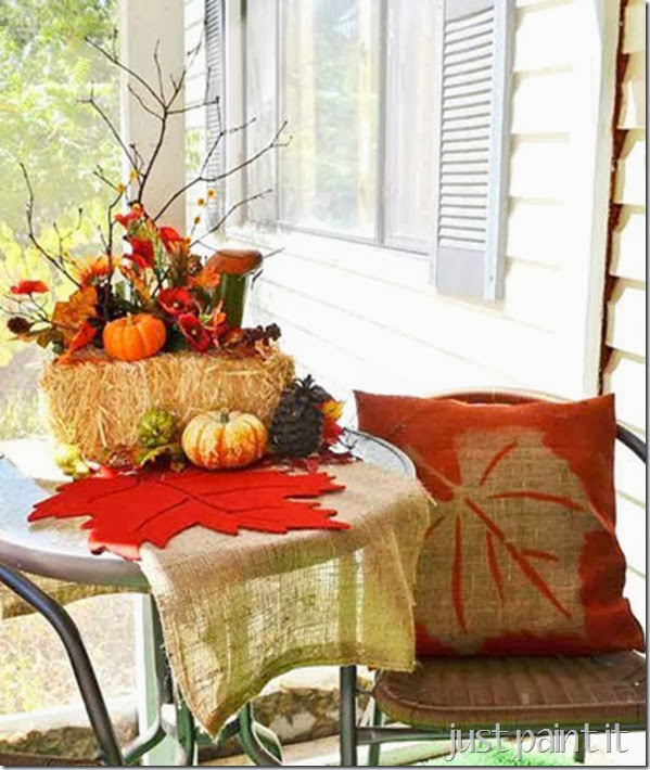 fall front entry decor