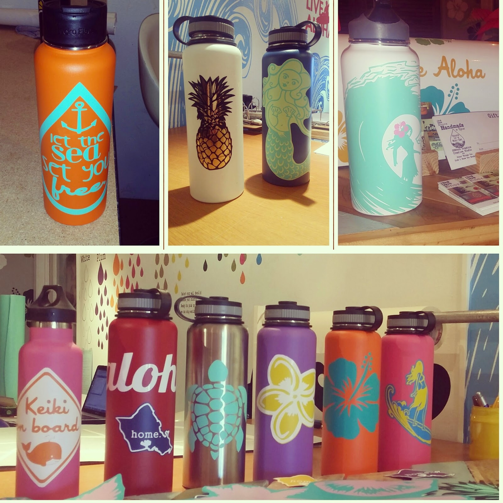 Https www etsy com listing 222055432 hydroflask stickers custom decals for