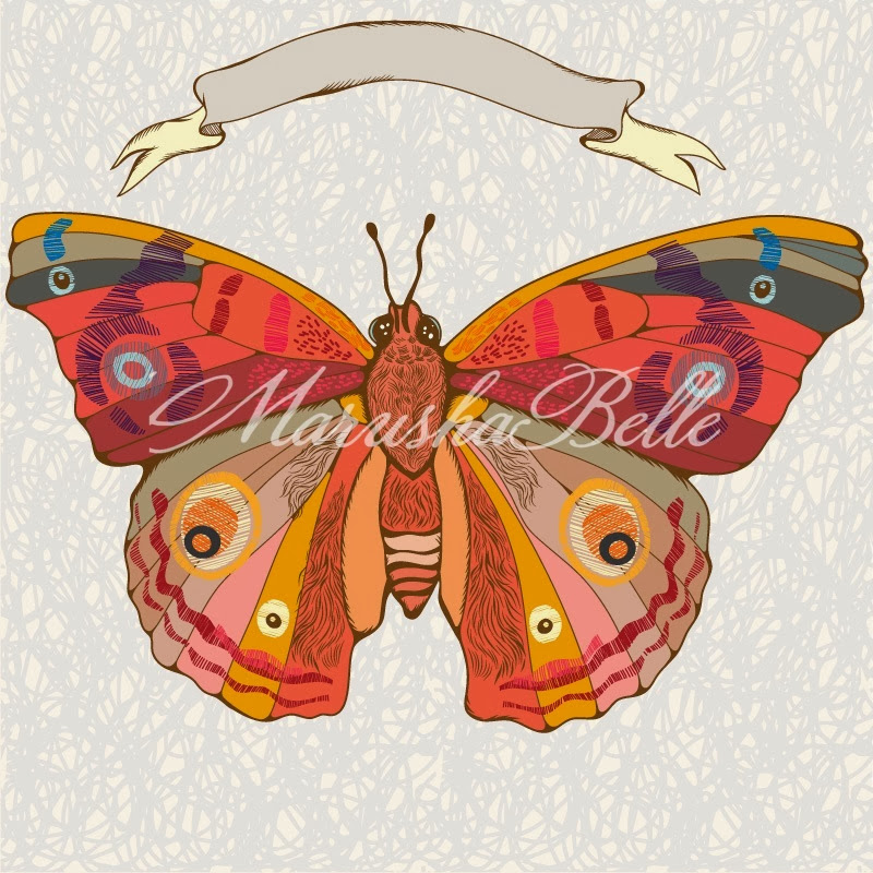 Butterfly graphic color