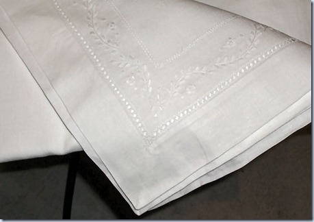 Linen tablecloth drawn work w double hemstitch opulenceofsouthernpines