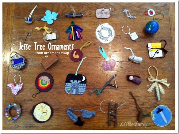 Jesse Tree ornaments - swap