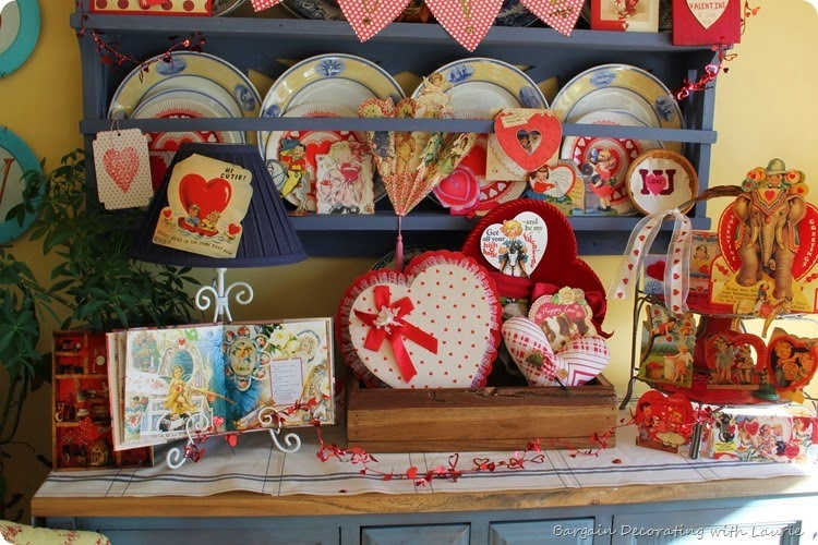 Vintage Valentine Display