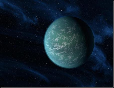 Concepção artística do exoplaneta Kepler 22b (Foto: NASA)