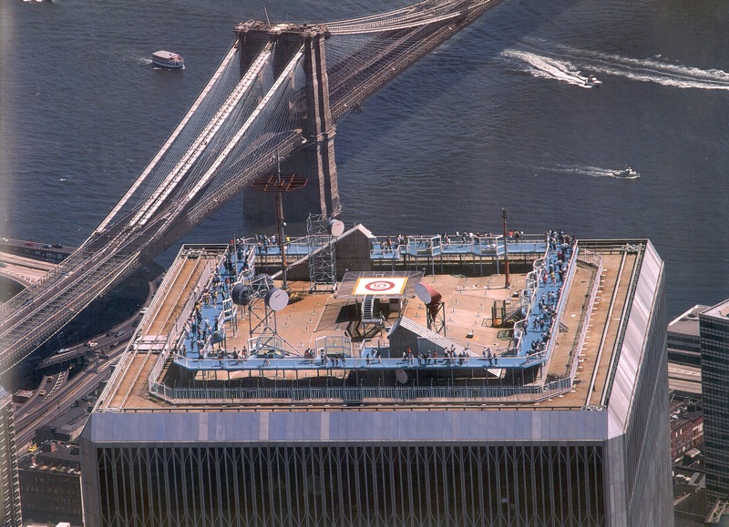 Wtc south tower roof