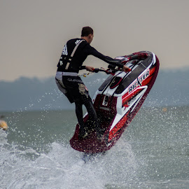 Solent Fun by Stuart Byles - Sports & Fitness Watersports ( water, splash, waves, jetski, solent, sports, sea, air, fun,  )