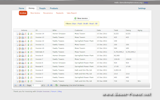 free open source quote and invoice software ~ bauer-power media, Invoice templates