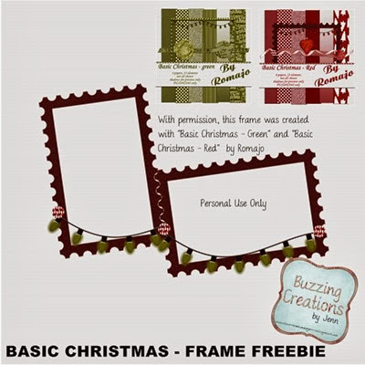 Romajo - Basic Christmas - Frame Freebie Preview