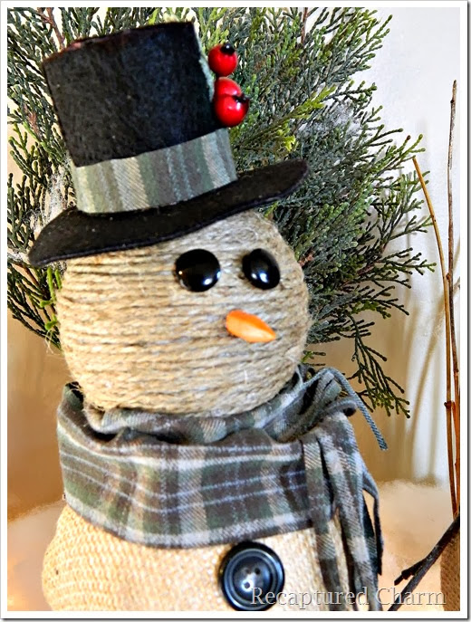 burlap & twine snowmen41