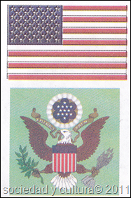 escudo y bandera estados unidos 