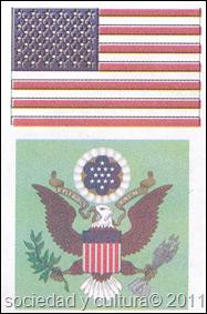 escudo y bandera estados unidos