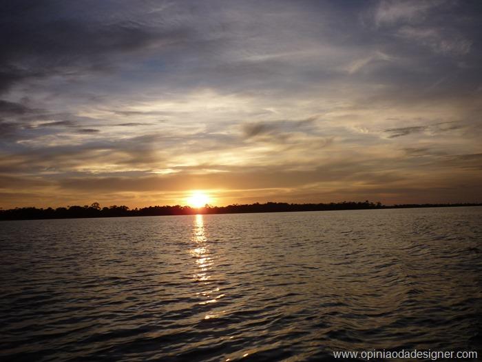 por do sol no rio tapajós