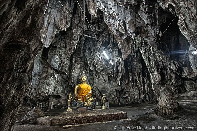 Kanchanaburi buddha temple cave