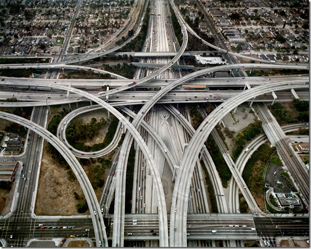 Edward Burtynsky Highway #1, Los Angeles, California, USA 2003