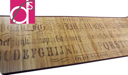bamboo typography rug