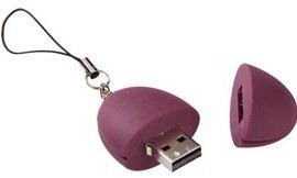 Plum USB flash drive 2