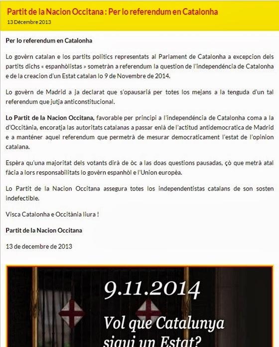 comunicat del Partit de la Nacion Occitana