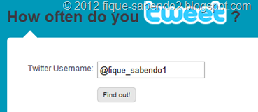 Digite o seu nome de usuário e clique em Find out