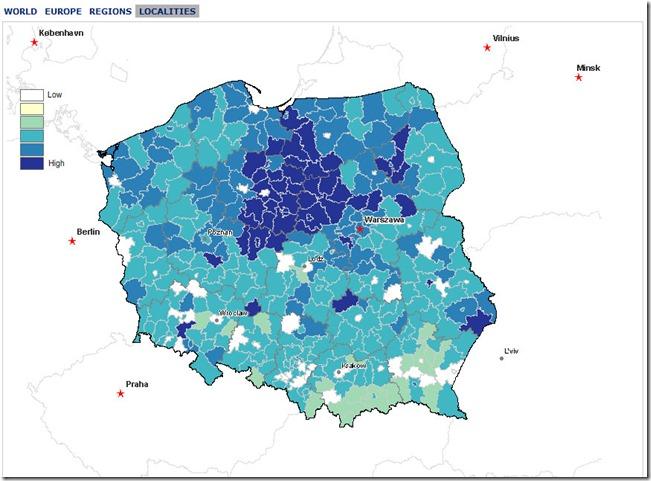 wisniewski - world profiler - poland localities