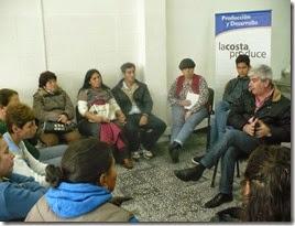 Representantes de Producción y Desarrollo mantuvieron una reunión con microemprendedores de La Costa