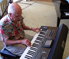 Maestro, John Perkin, gave us a session using his Korg Pa3X.