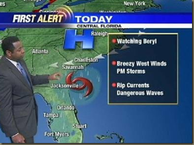 Sunday A.M.  Beryl Update   View photo   Yahoo  News