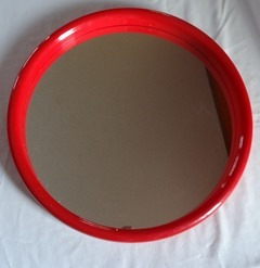 Red plastic Interdesign wall mirror