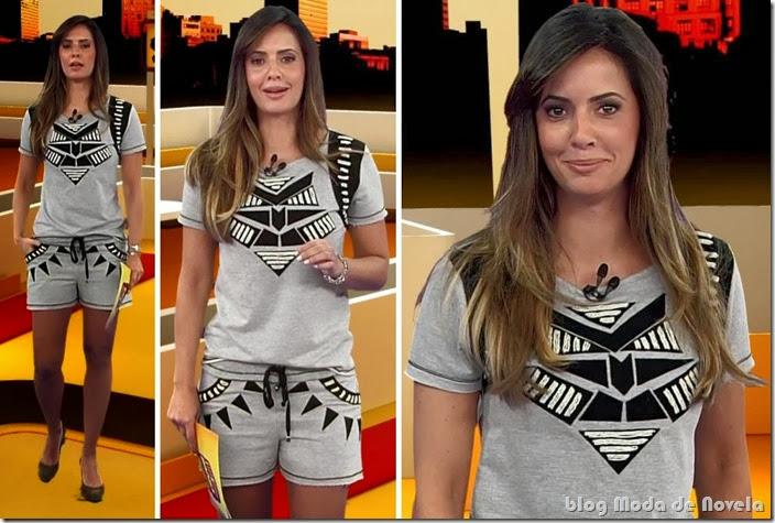 moda do programa band esporte clube - paloma tocci 06 de outubro de 2013