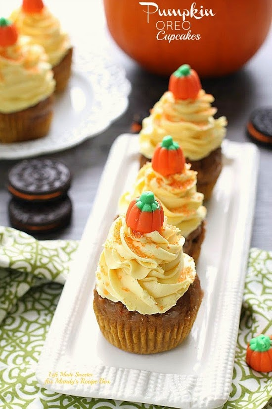 Pumpkin Oreo Cupcakes with Maple Cinnamon Frosting from @LifeMadeSweeter.jpg
