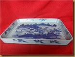 Nampan keramik motif pemancing - samping