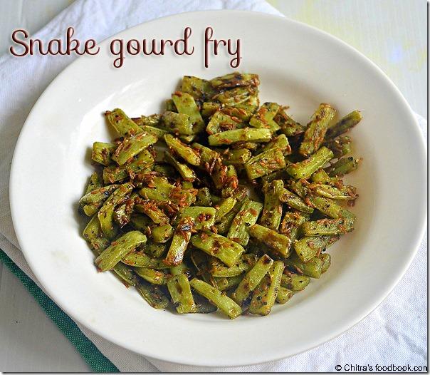 Snake gourd - stir fry copy
